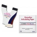 Бумага артикуляційна, підкова, червоно-синя 89µ, 6х12 лист., 72 шт. (W.R. Rayson Export Ltd)
